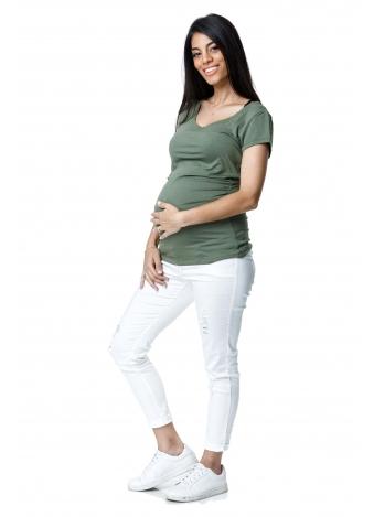 חולצה בייסיק ירוק זית