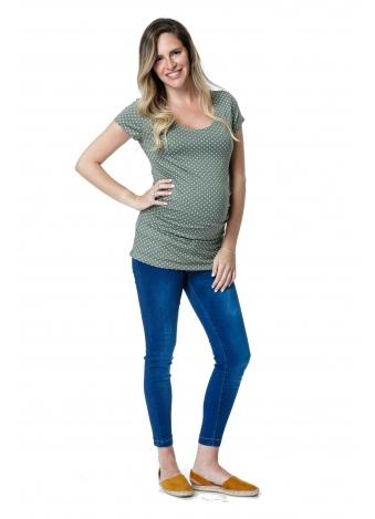 חולצת בייסיק ירוקה נקודות