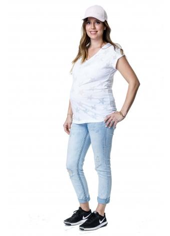 חולצת רותי לבנה כוכבים