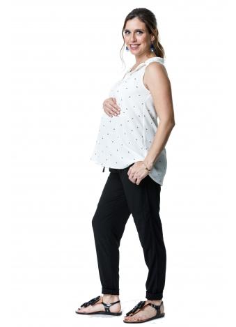טוניקת ג'ינס לבנה מעוטרת