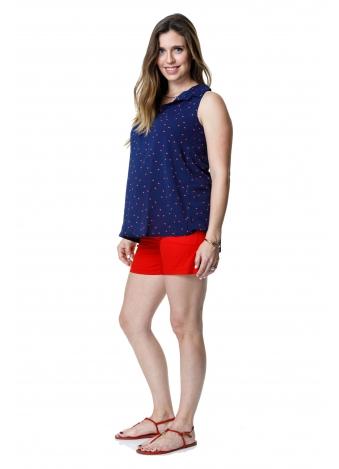 טוניקת ג'ינס כחולה נקודות אדומות