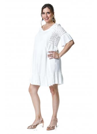 שמלה כפרית לבנה