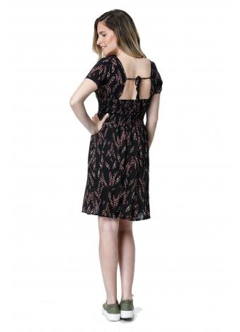 שמלת פרחים פעמון שחור