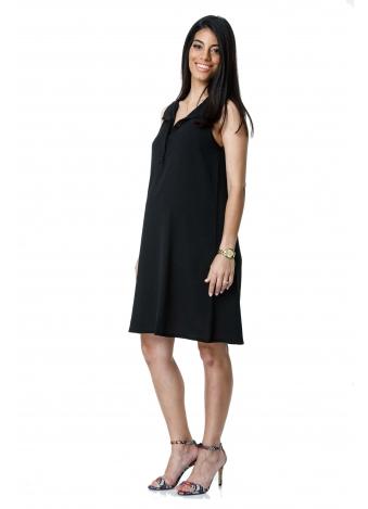 שמלת כפתורים שחורה