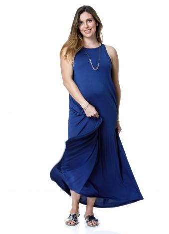 שמלת נאון מקסי כחולה