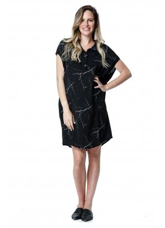 שמלת עלמה שחורה זריקות צבע