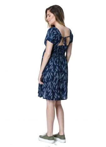 שמלת פרחים פעמון כחול