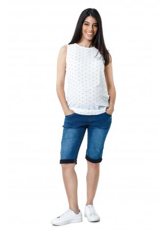 ג'ינס ברמודה קיפול