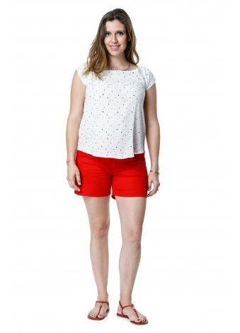 חולצת יוליה לבנה כוכבים