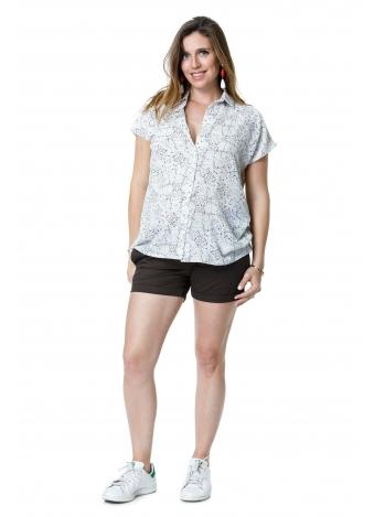 חולצת מור לבנה עם זריקות צבע
