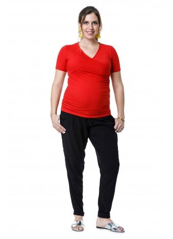 חולצת מעטפת אדומה