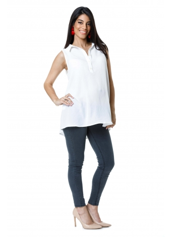 טוניקת ג'ינס לבנה