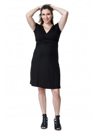 שמלת מעטפת שחורה