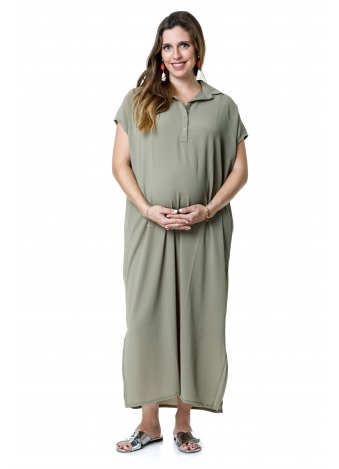 שמלת רותם מקסי חאקי