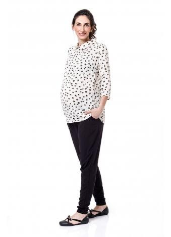 חולצת שרה מנוקד שחור לבן
