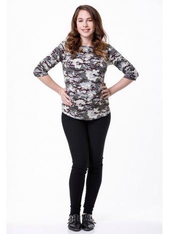 חולצת שרוול 3/4 צבאי
