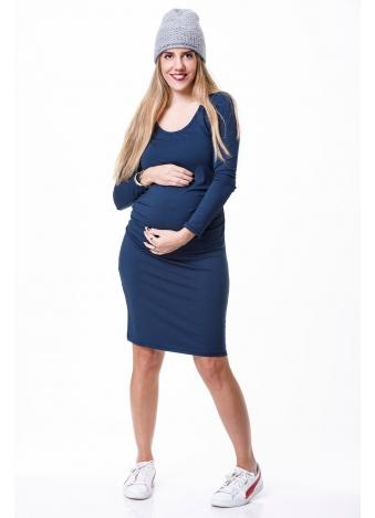 שמלת בייסיק ש.ארוך כחולה
