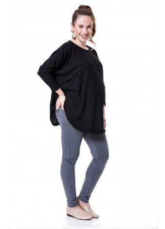 חולצת ליאור שרוול ארוך שחורה