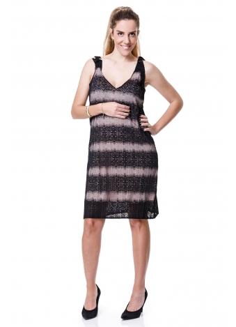 שמלת פליסה תחרה