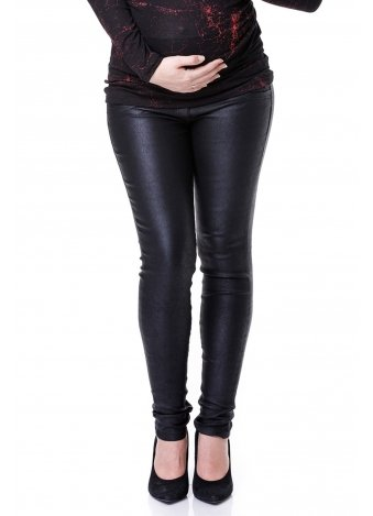 מכנס שלומית ארוך שחור עור