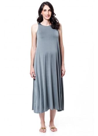 שמלת נאון מקסי אפור