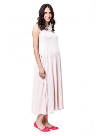 שמלת נאון מקסי שמנת לבן