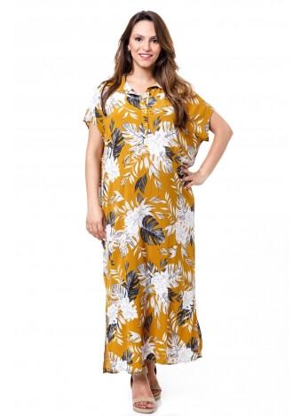 שמלת רותם מקסי צהובה