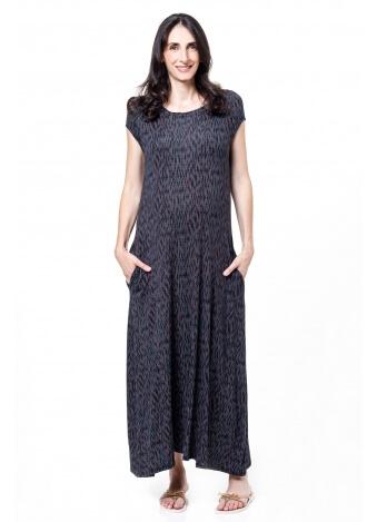 שמלת סימפוניה אפור כהה